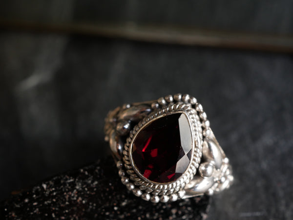 Garnet Cassandra Ring - Jewels & Gems