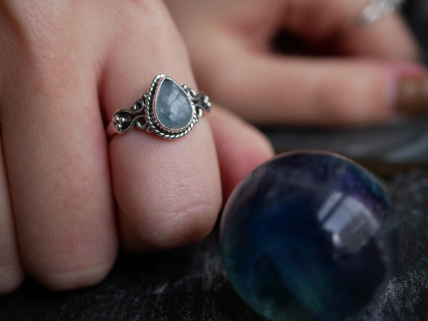 Aquamarine Alta Ring Drop - Jewels & Gems