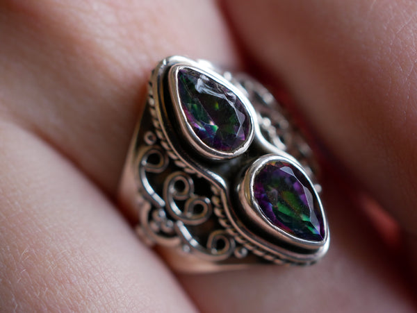 Mystic Topaz Athena Ring - Jewels & Gems