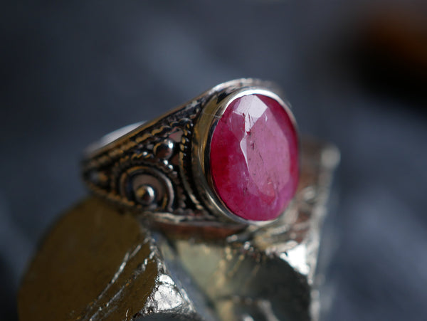 Semi-precious Ruby Aenor Ring - Jewels & Gems