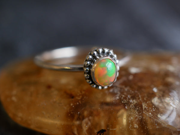 Ethiopian Opal Mini Gala Ring - Jewels & Gems