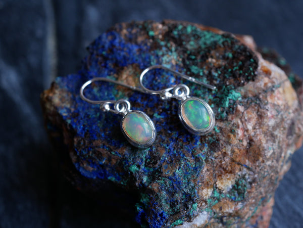 Ethiopian Opal Akoni Earrings - Jewels & Gems