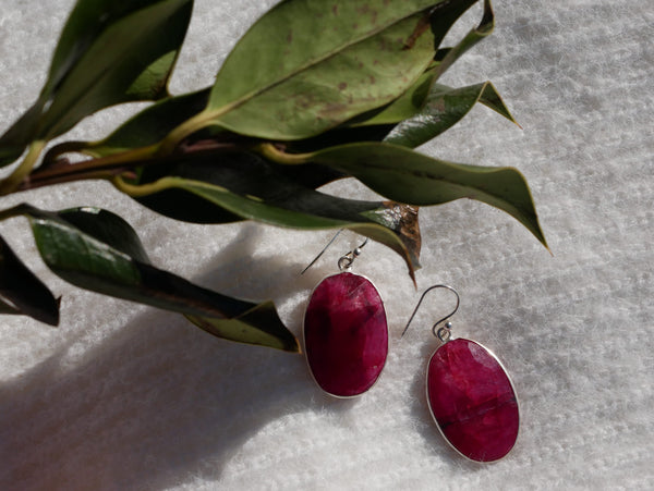 Semi-precious Ruby Adora Earrings - Jewels & Gems