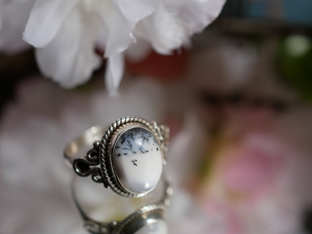 Dendritic Agate Alta Ring Medium - Jewels & Gems