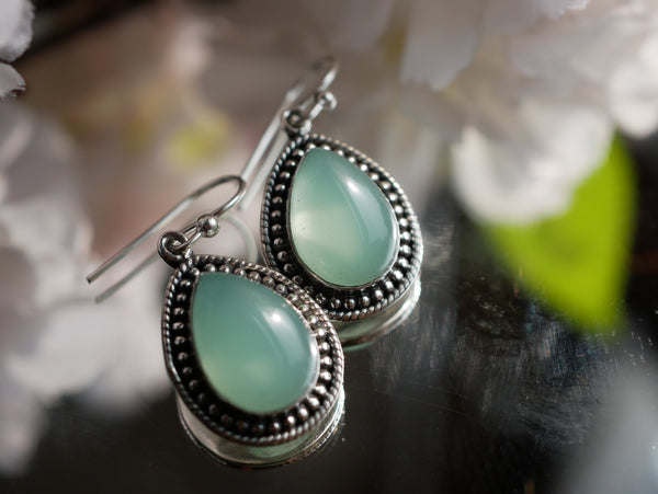 Green Chalcedony Xenia Earrings - Jewels & Gems