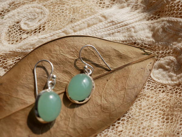 Green Chalcedony Ariel Earrings - Jewels & Gems