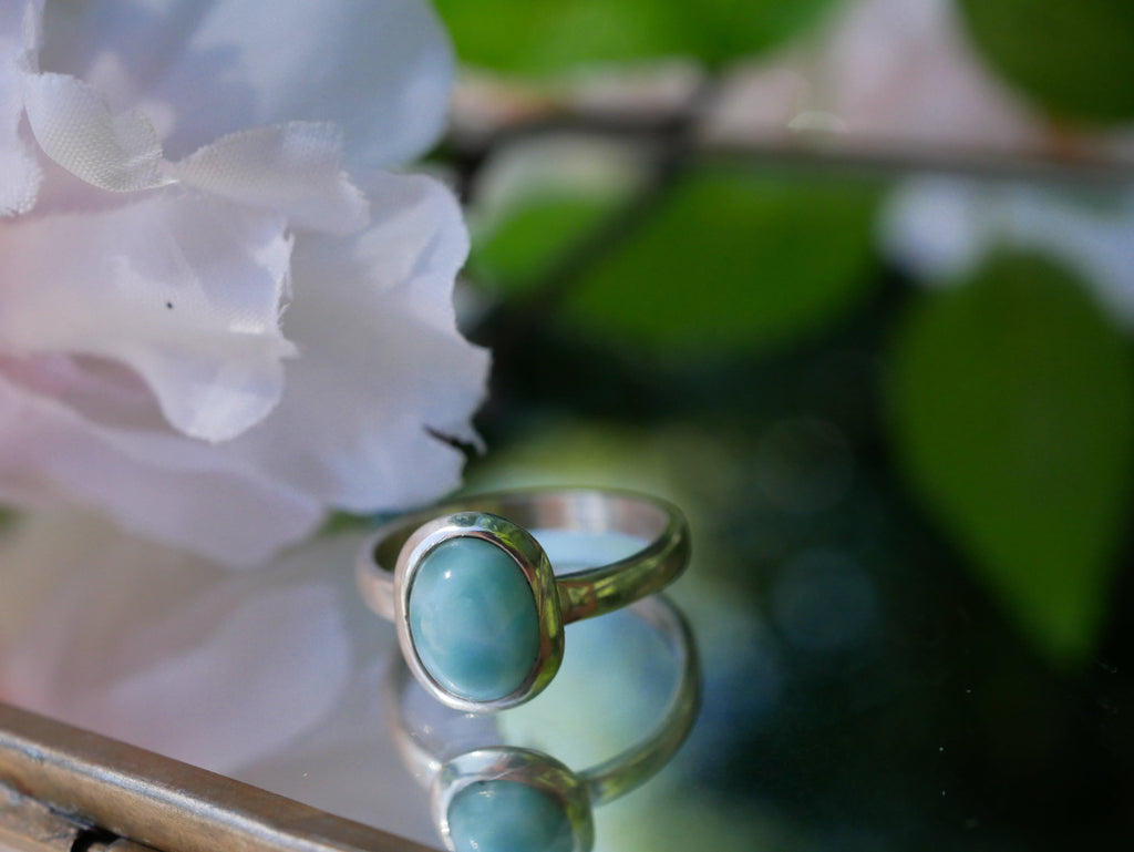 Larimar Ariel Ring Oval - Jewels & Gems