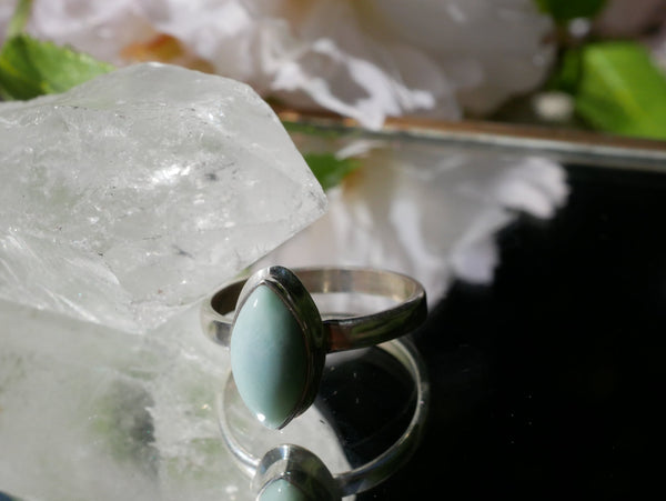 Larimar Ari Ring Almond - Jewels & Gems