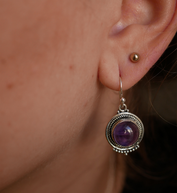 Amethyst Kaisa Earrings - Jewels & Gems