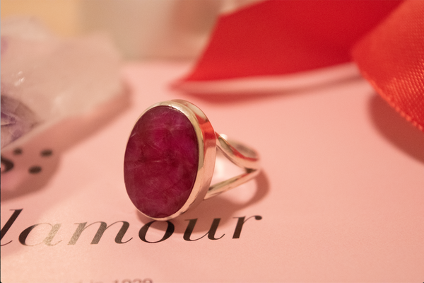 Semi-precious Ruby Sylke Ring - Jewels & Gems