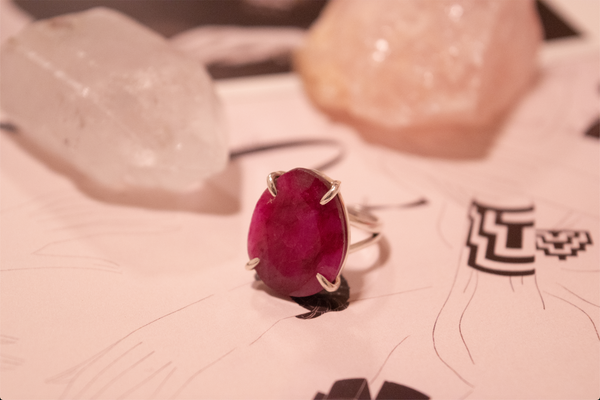 Semi-precious Ruby Saana Ring - Jewels & Gems