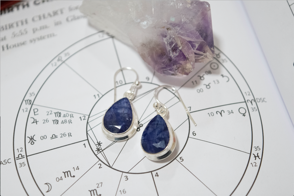 Semi-precious Sapphire Ari Earrings Tear Drop - Jewels & Gems