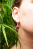 Semi-precious Ruby Cassia Earrings - Jewels & Gems