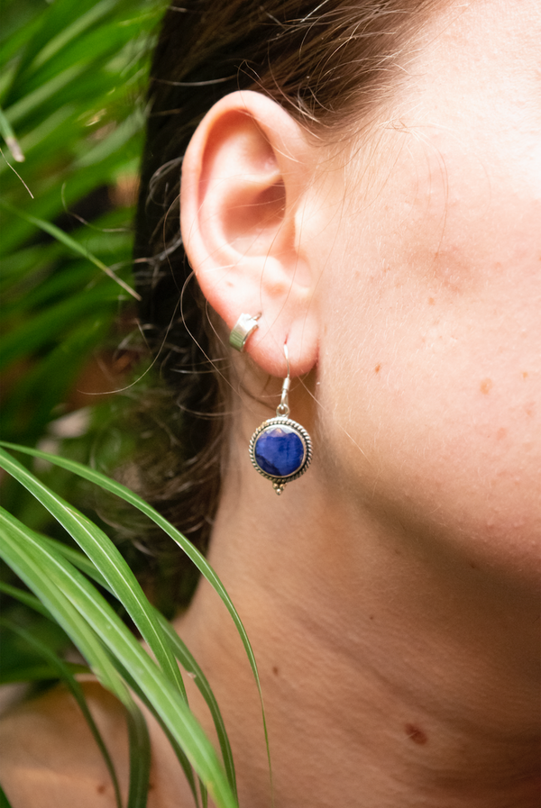 Semi-precious Sapphire Cassia Earrings - Jewels & Gems