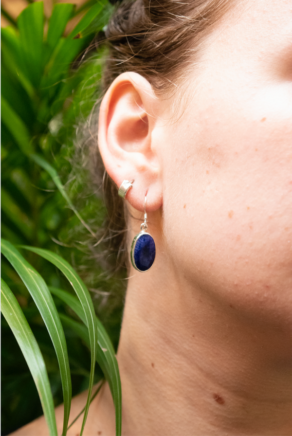 Semi-precious Sapphire Akoni Earrings - Jewels & Gems