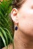 Semi-precious Sapphire Akoni Earrings Long Oval - Jewels & Gems