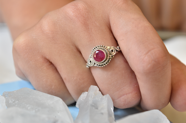Semi-precious Ruby Kala Ring - Jewels & Gems