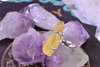 Yellow Aura Quartz Saana Ring - Jewels & Gems