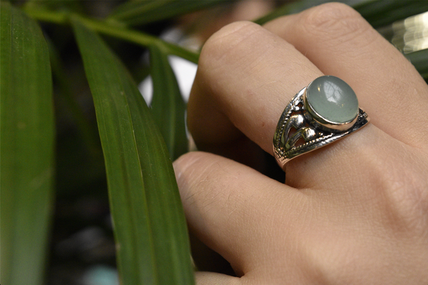 Chalcedony Vesta Ring - Jewels & Gems