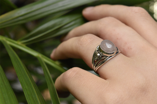 Rose Quartz Calissia Ring - Jewels & Gems
