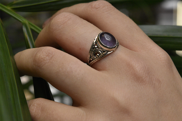 Amethyst Aurea Ring Oval - Jewels & Gems