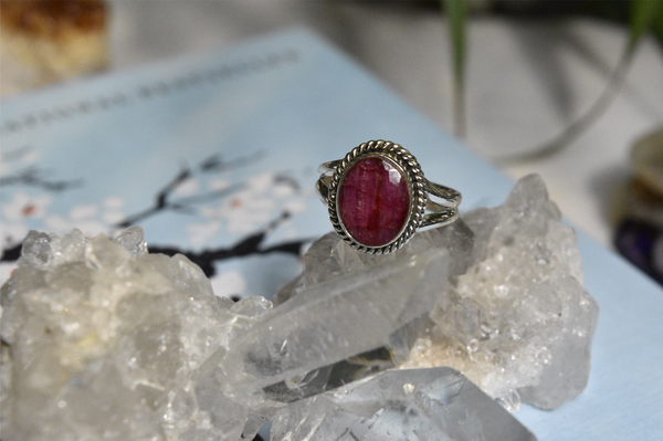 Semi-precious Ruby Rayna Ring - Jewels & Gems