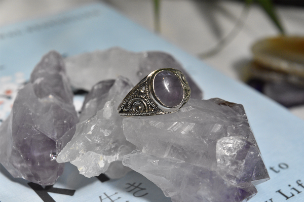 Amethyst Calissia Ring - Oval - Jewels & Gems