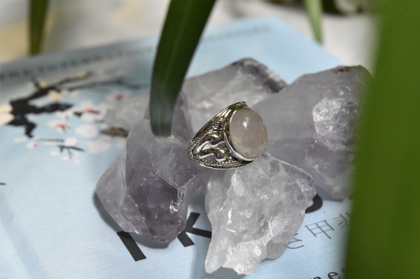 Rose Quartz Vesta Ring - Jewels & Gems