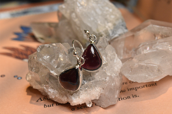 Garnet Akoni Earrings - Drop - Jewels & Gems