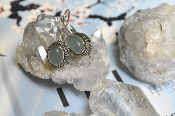 Chalcedony Persis Earrings - Jewels & Gems
