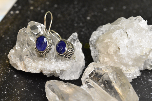 Semi-precious Sapphire Persis Earrings - Jewels & Gems