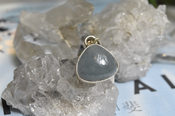 Aquamarine Akoni Pendant - Chunky Drop - Jewels & Gems