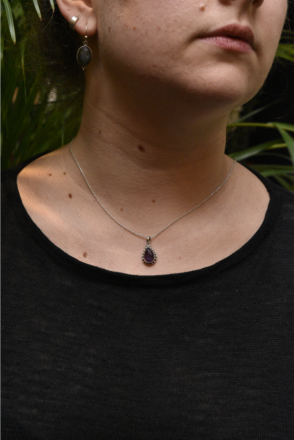 Amethyst Gala Pendant Small Tear Drop - Jewels & Gems