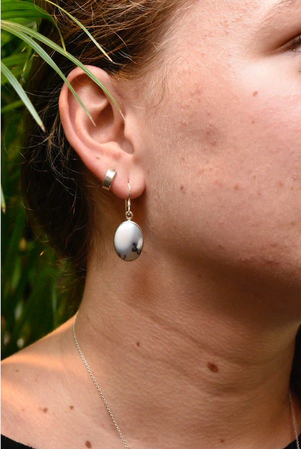 Dendritic Agate Akoni Earrings - Jewels & Gems