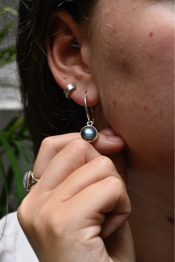 Labradorite Signe Earrings - Jewels & Gems