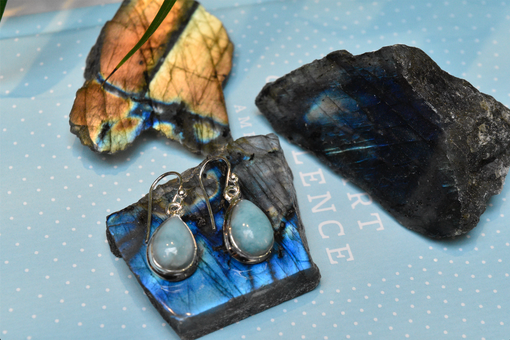 Larimar Ari Earrings - Drop - Jewels & Gems