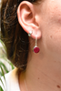 Semi-precious Ruby Signe Earrings - Jewels & Gems