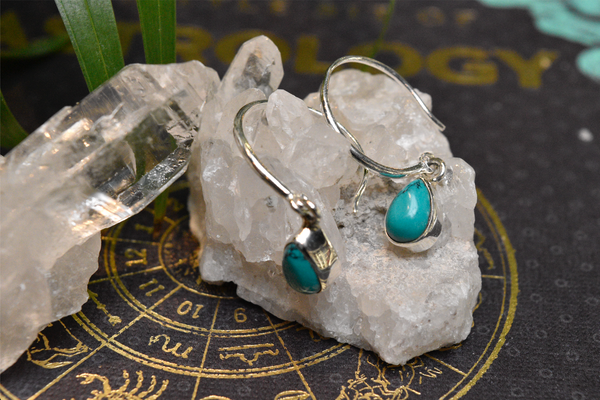 Turquoise Signe Earrings - Jewels & Gems