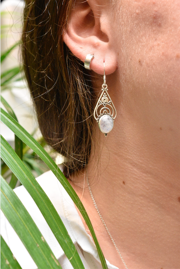 Moonstone Iria Earrings - Jewels & Gems