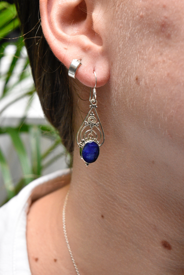 Semi-precious Sapphire Iria Earrings - Jewels & Gems