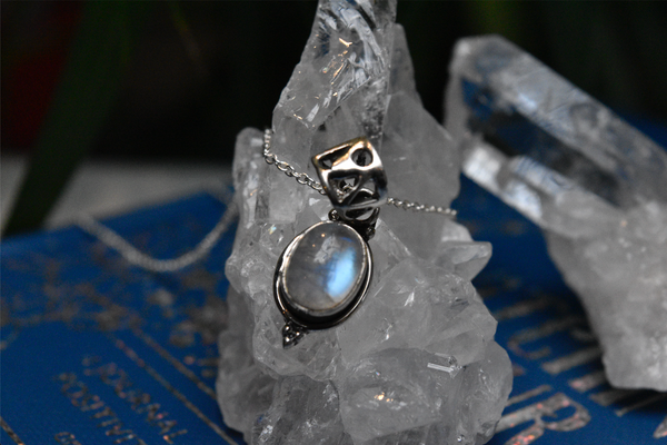 Moonstone Ari Dot Pendant - Jewels & Gems