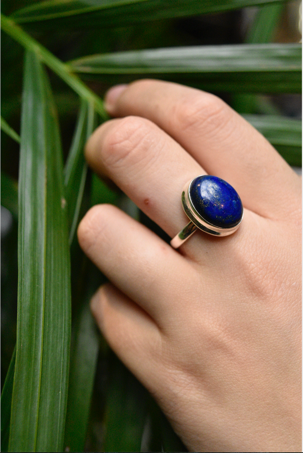 Lapis Lazuli Ari Ring - Oval (US 6.5 & 7) - Jewels & Gems