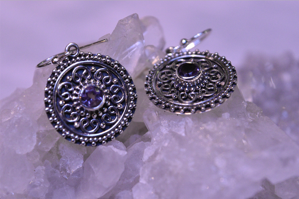 Amethyst Zahara Earrings - Jewels & Gems