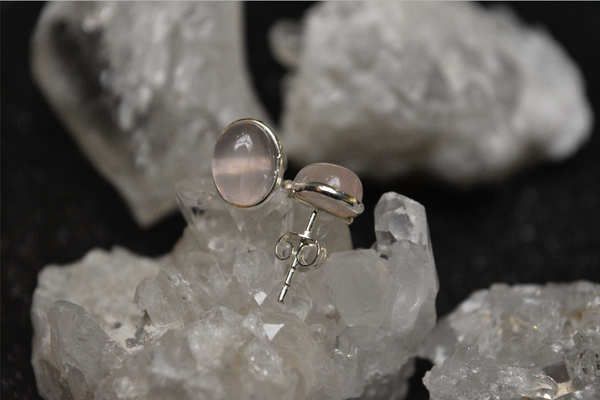Rose Quartz Ari Studs - Jewels & Gems