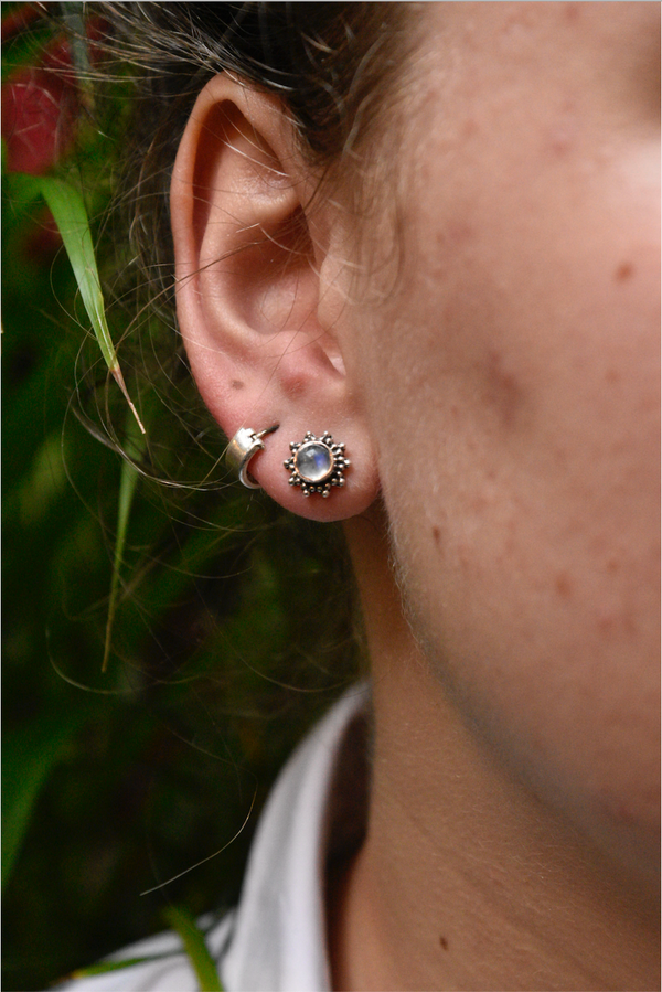 Moonstone Sole Studs - Jewels & Gems