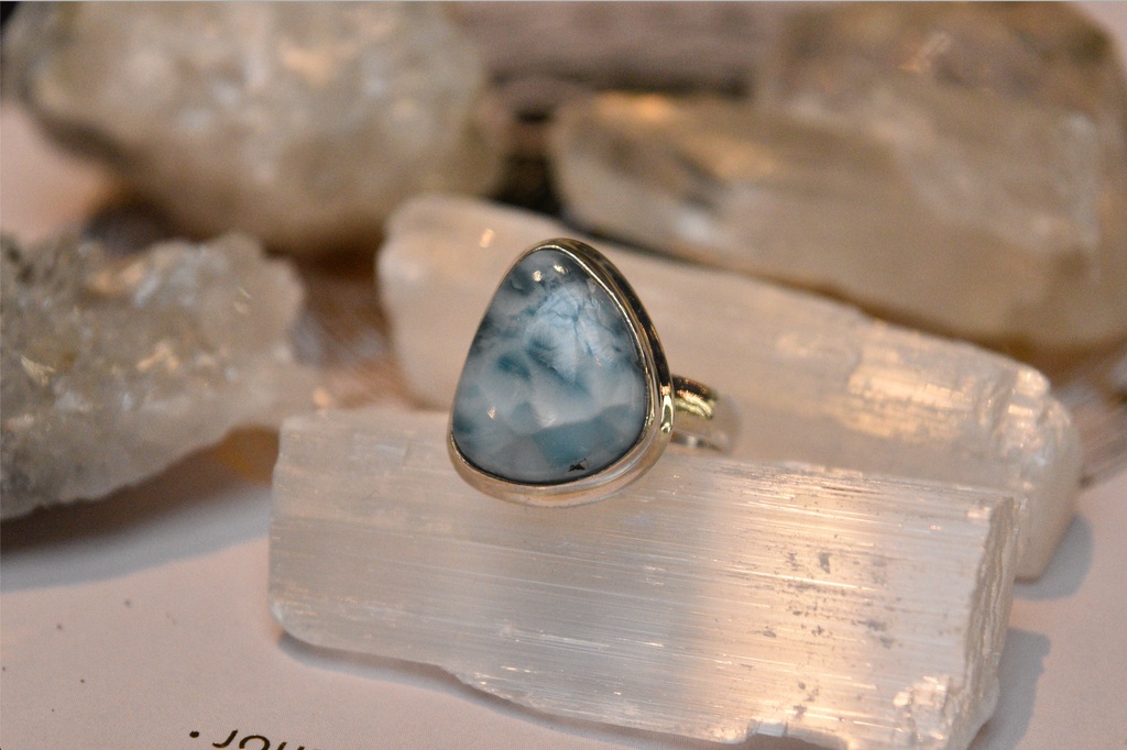 Larimar Ari Ring Asymetric - Jewels & Gems