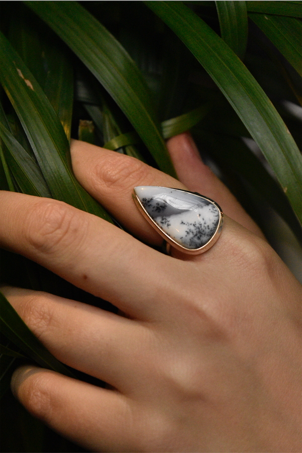 Dendritic Agate Ari Ring - Jewels & Gems