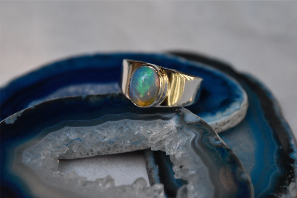 Ethiopian Opal Sabina Ring - Jewels & Gems