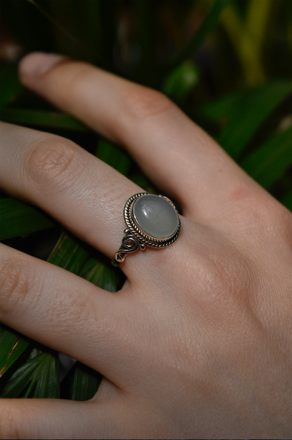 Chalcedony Kala Ring - Jewels & Gems