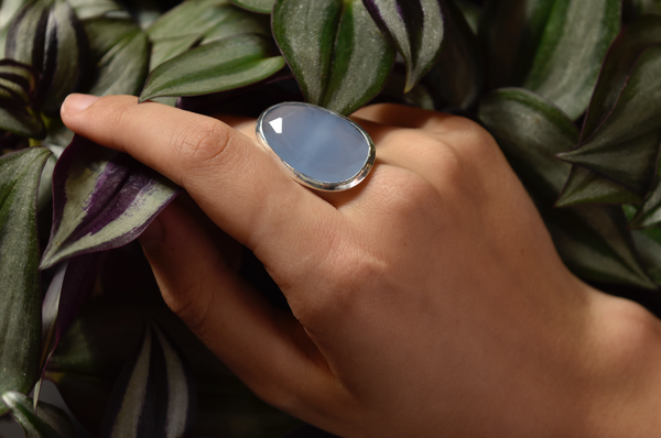 Blue Chalcedony Adora Ring - Jewels & Gems